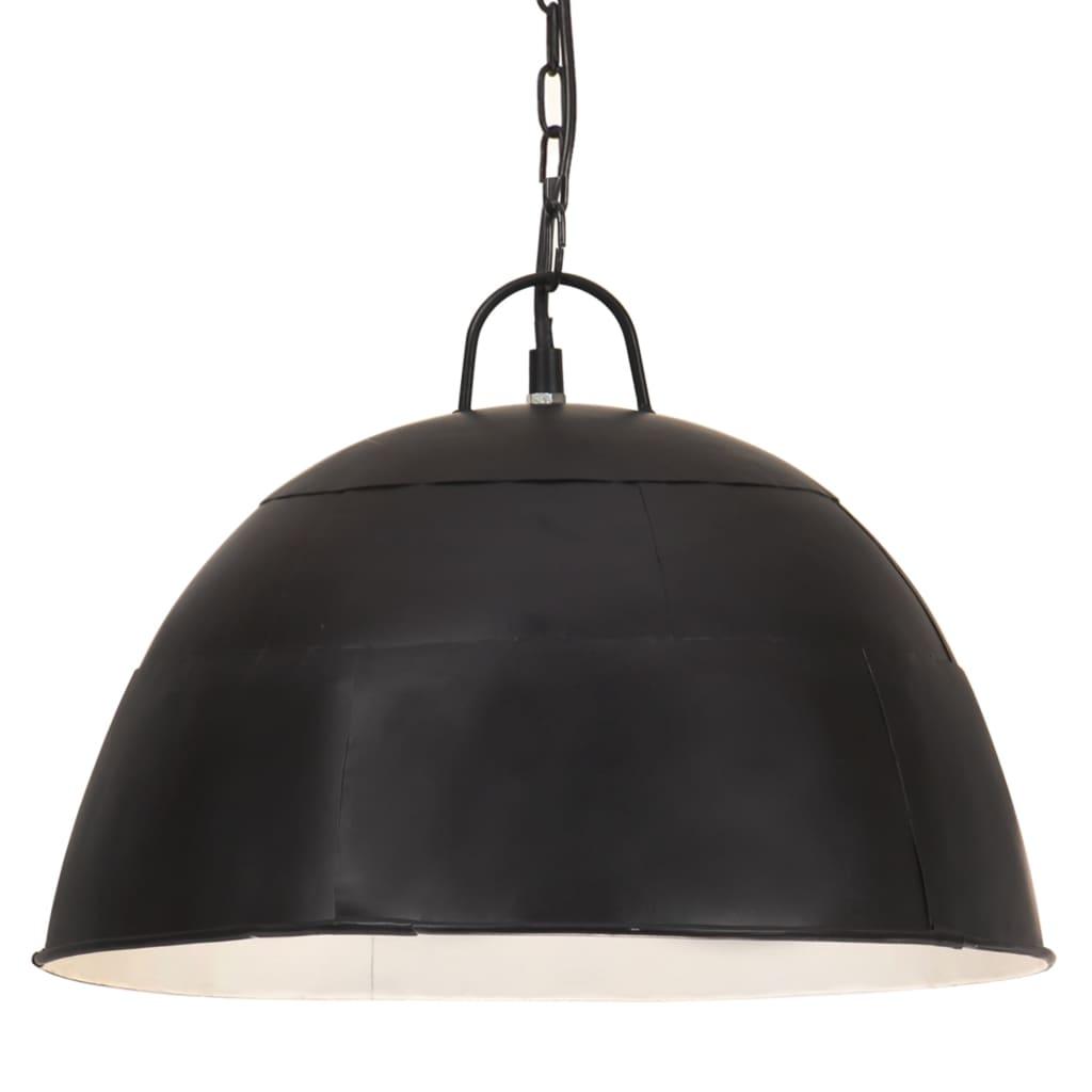 vidaXL Lustră industrială vintage, 25W, negru stins, 41cm, rotund, E27 vidaxl.ro