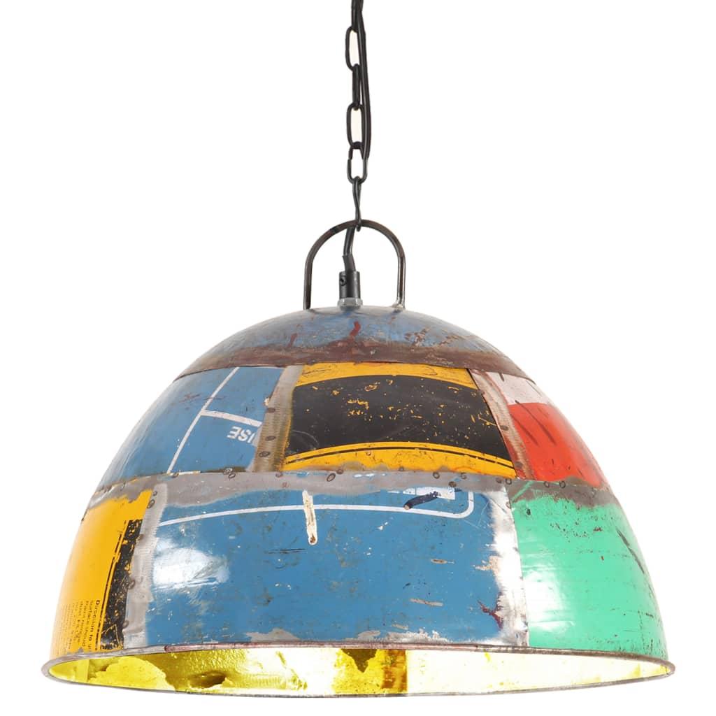 vidaXL Lustră industrială vintage, 25 W, multicolor, 41cm, rotund, E27 poza 2021 vidaXL