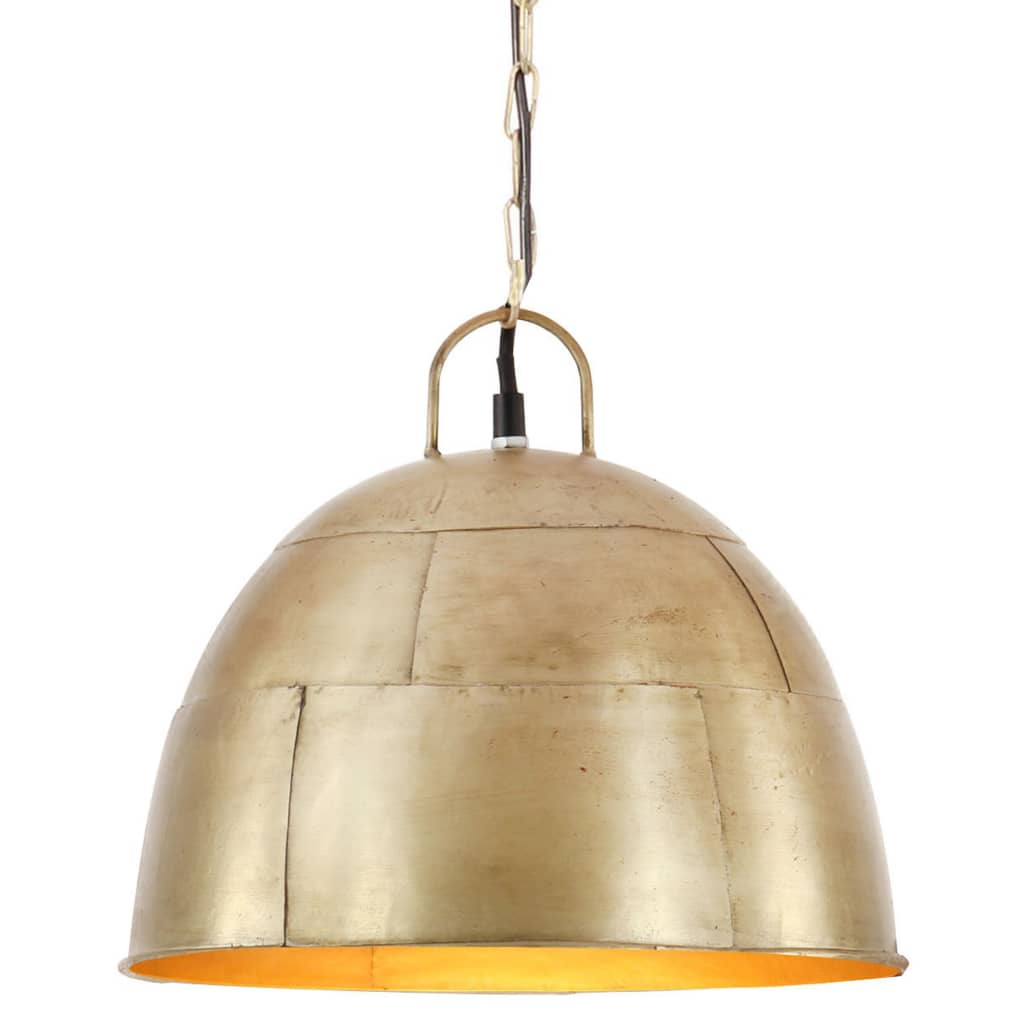 vidaXL Lampă industrială vintage, 25 W, arămiu, rotund, 31 cm E27 poza vidaxl.ro