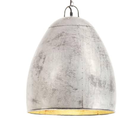 vidaXL Hanglamp industrieel rond 25 W E27 42 cm zilverkleurig