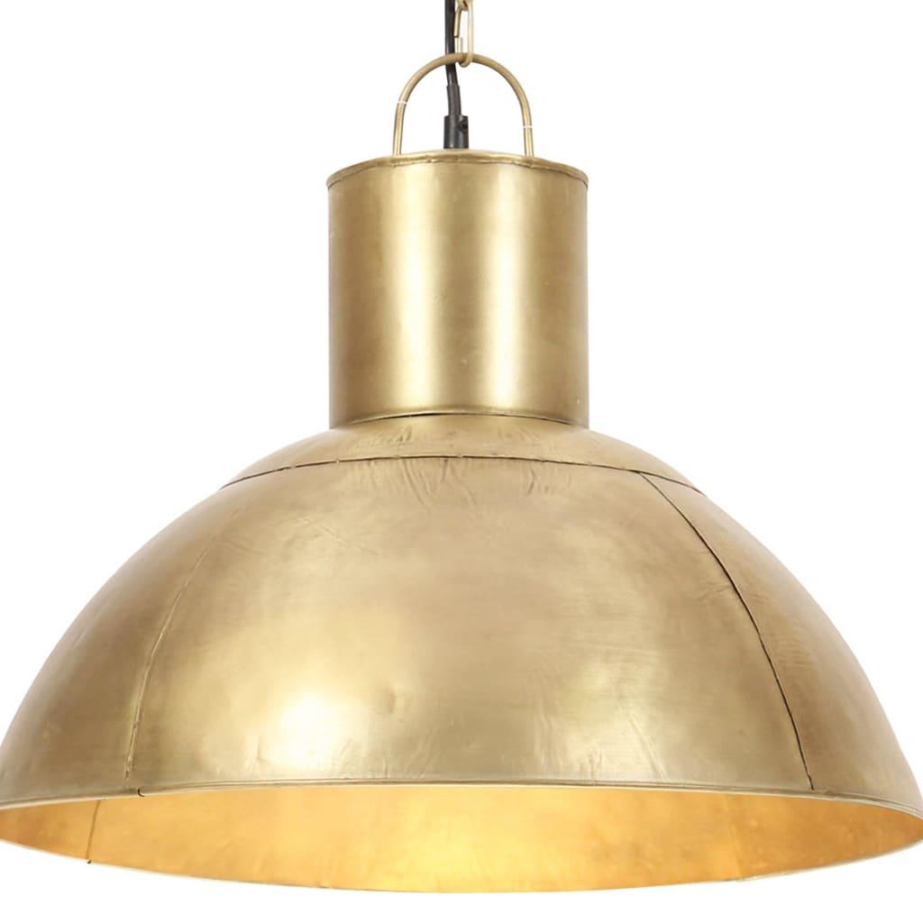 vidaXL Lampă suspendată, 25 W, culoare alamă, rotund, 48 cm, E27 poza vidaxl.ro