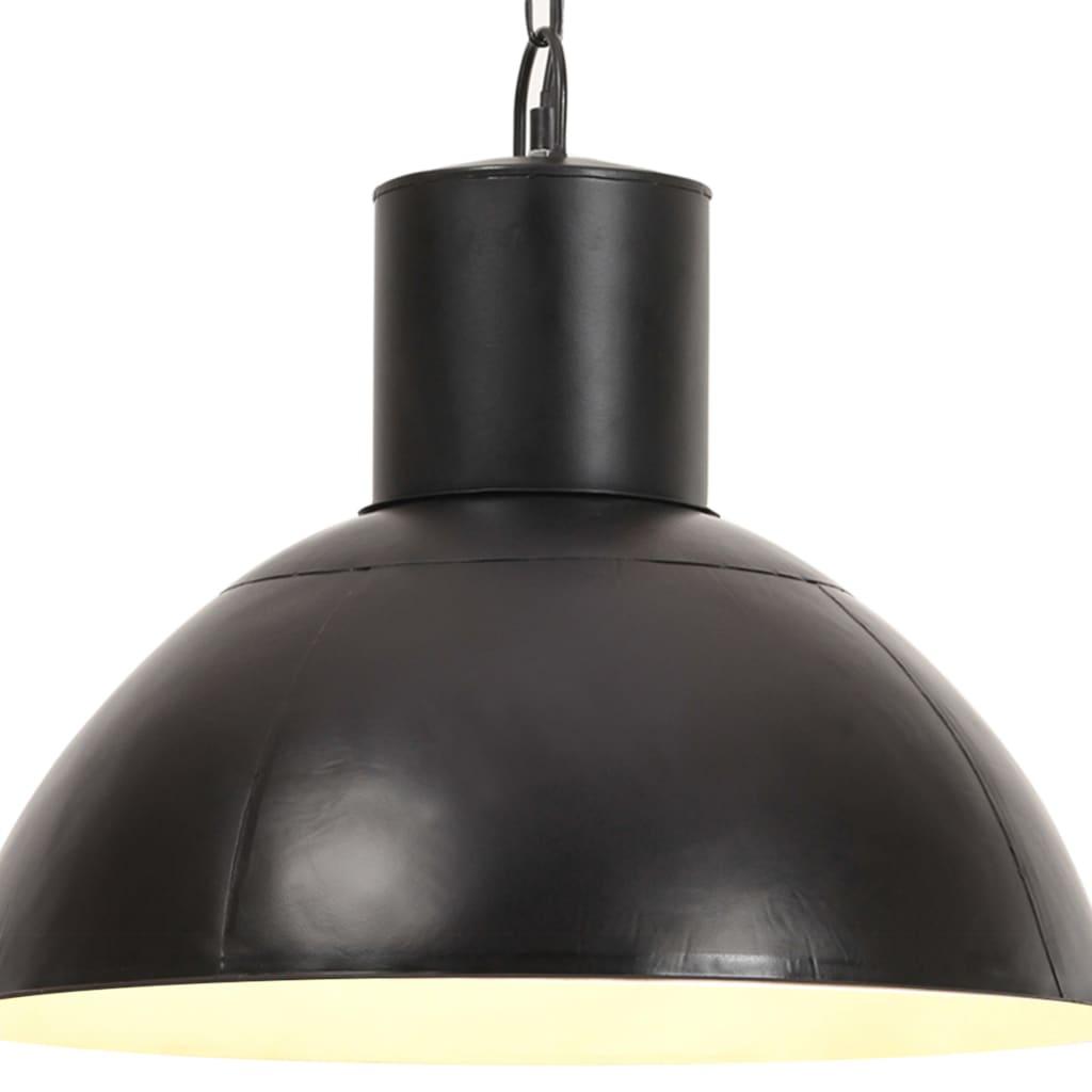 vidaXL Lampa wisząca, 25 W, czarna, okrągła, 48 cm, E27