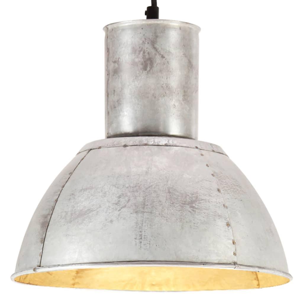 vidaXL Lampa wisząca, 25 W, kolor srebra, okrągła, 28,5 cm, E27