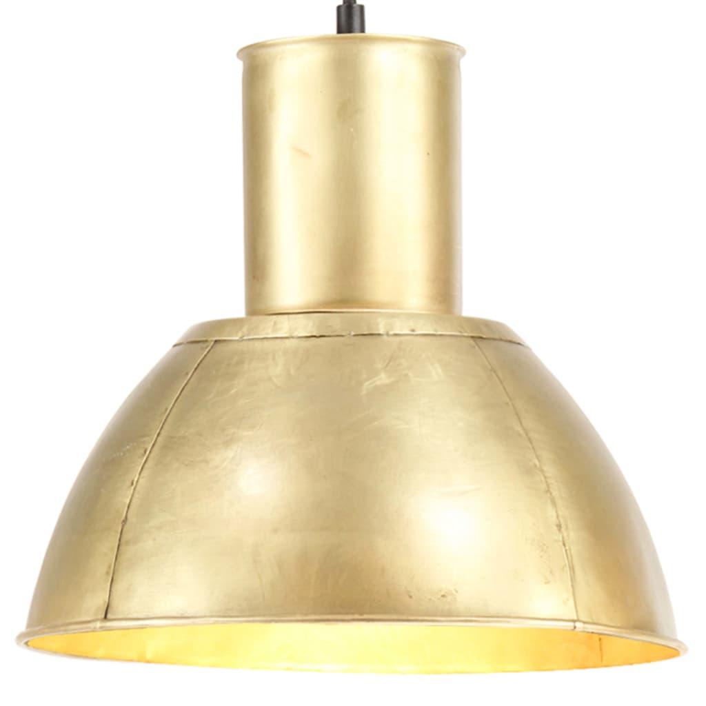 vidaXL Lampă suspendată, 25 W, culoare alamă, rotund, 28,5 cm, E27 vidaxl.ro