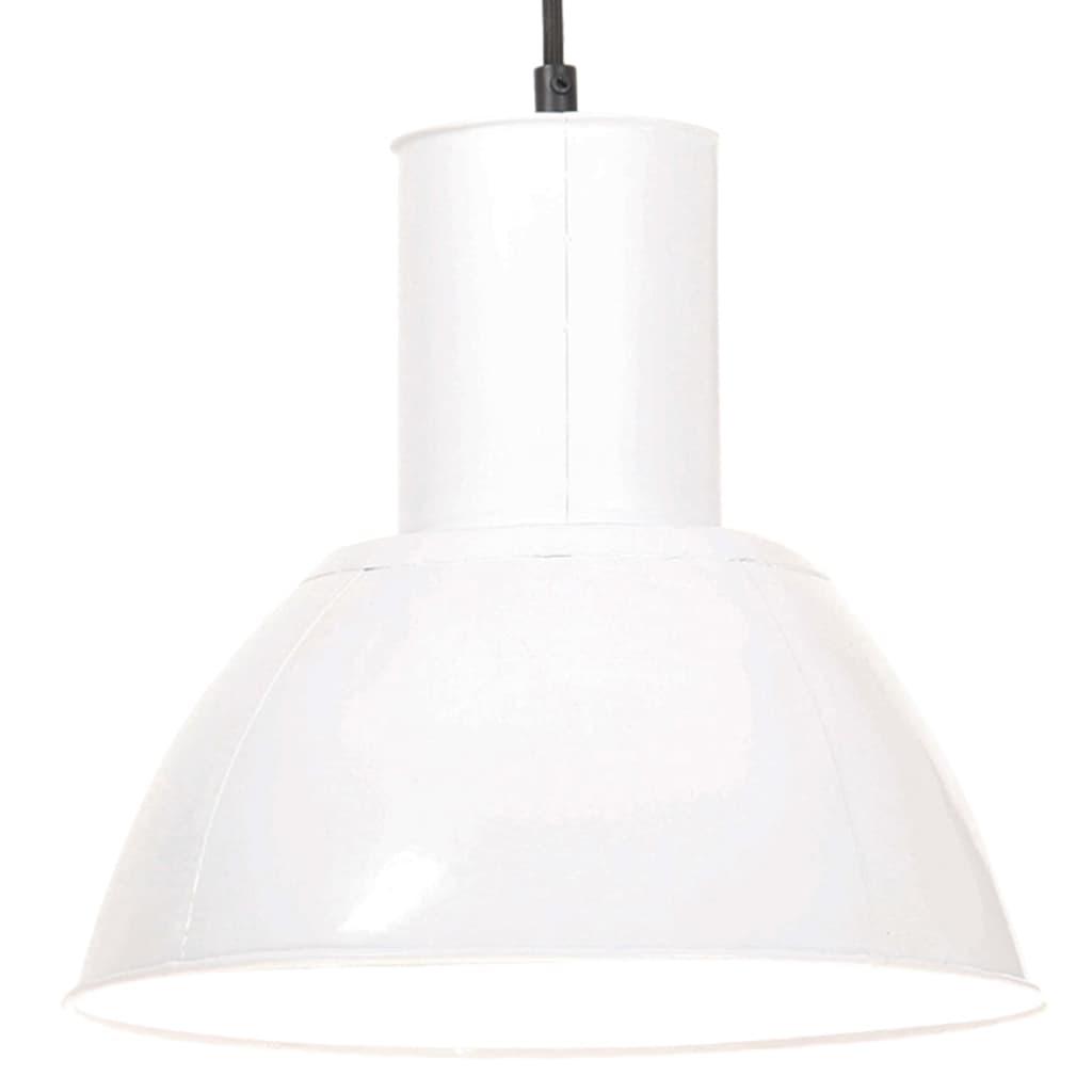 vidaXL Lampă suspendată, 25 W, alb, rotund, 28,5 cm, E27 vidaxl.ro