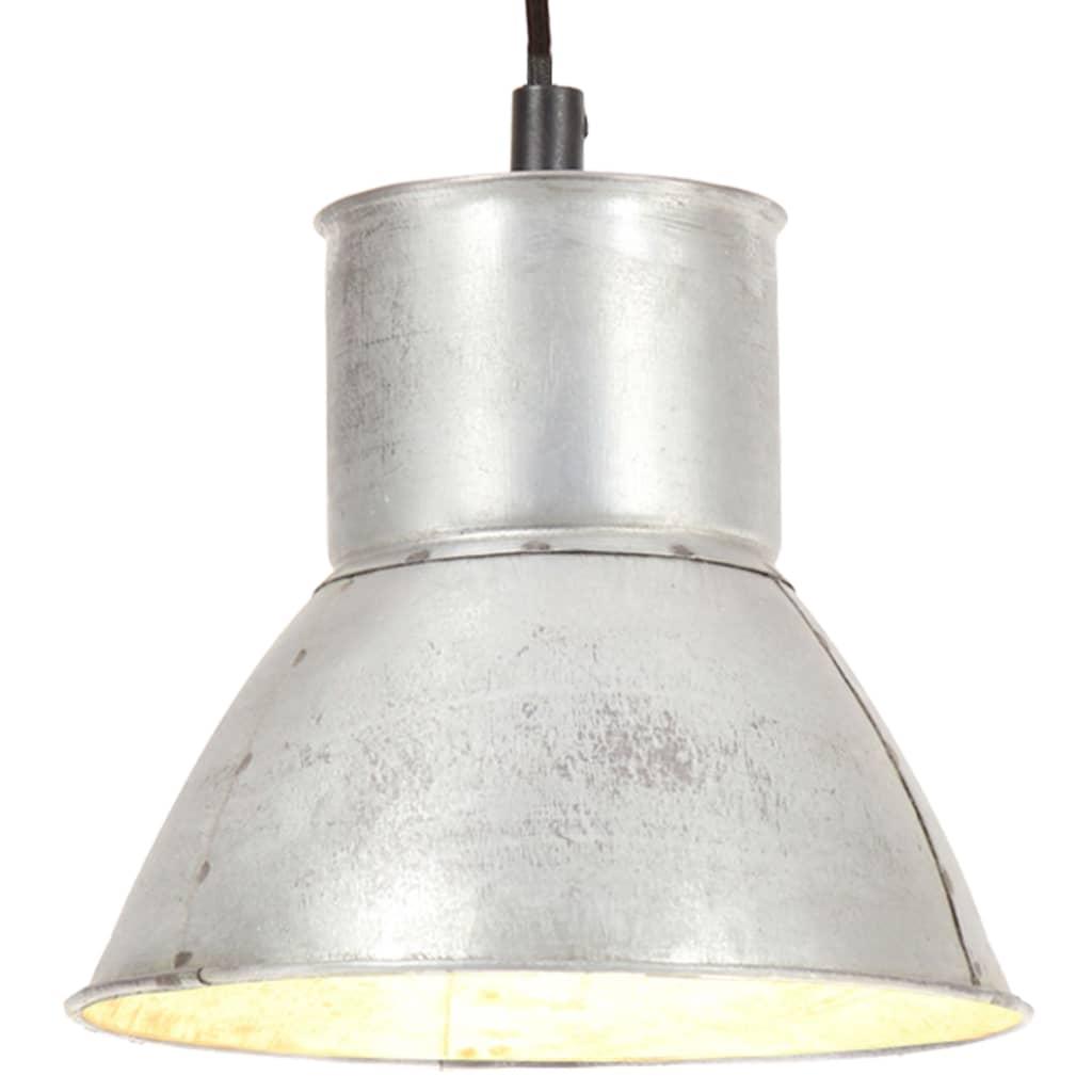 vidaXL Lampa wisząca, 25 W, kolor srebra, okrągła, 17 cm, E27