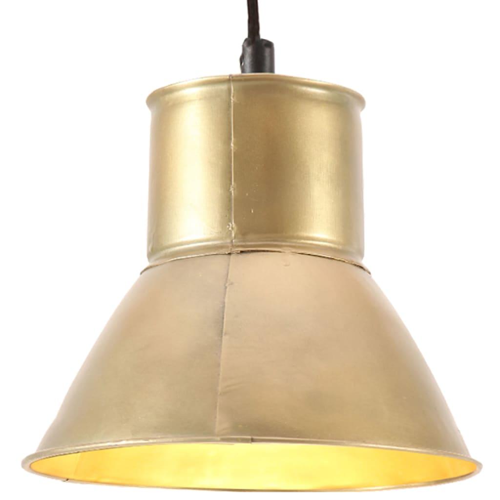 vidaXL Lampă suspendată, 25 W, culoare alamă, rotund, 17 cm, E27 poza 2021 vidaXL