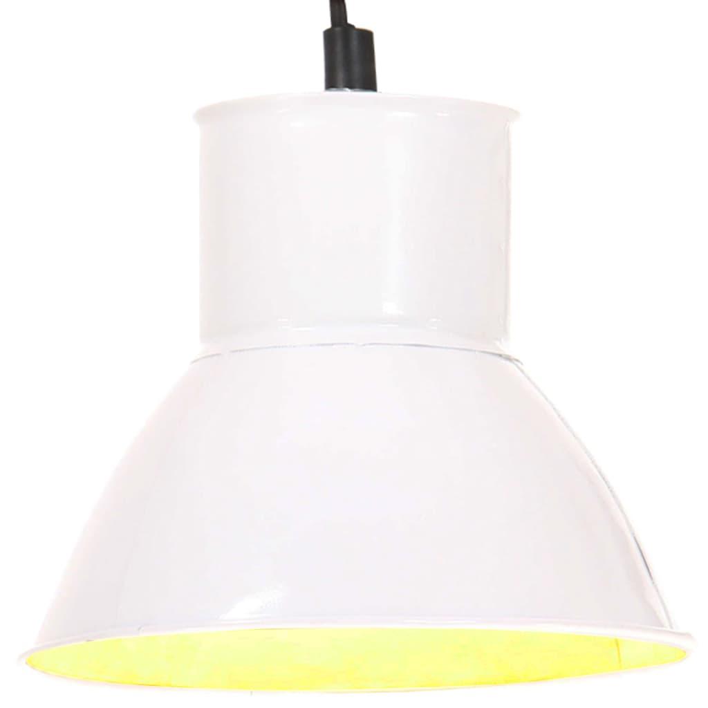 vidaXL Lampa wisząca, 25 W, biała, okrągła, 17 cm, E27