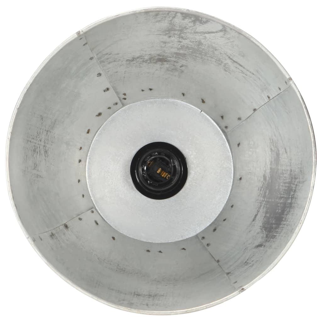 vidaXL Vloerlamp E27 massief mangohout zilverkleurig
