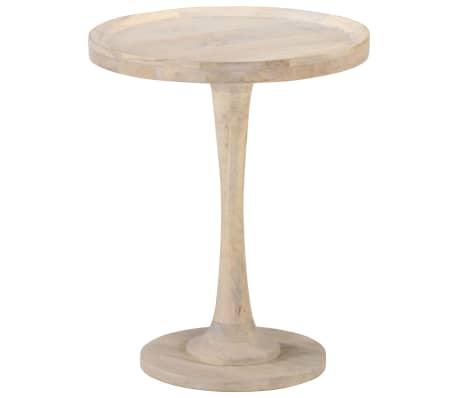 vidaXL Table d'appoint Ø60x75 cm Bois de manguier massif
