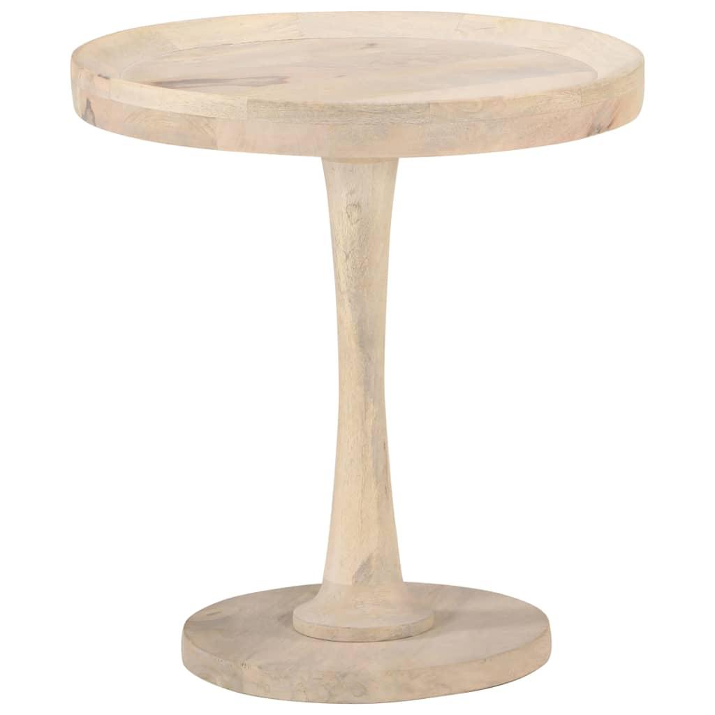 vidaXL Masă laterală, Ø50 x 55 cm, lemn masiv de mango poza vidaxl.ro