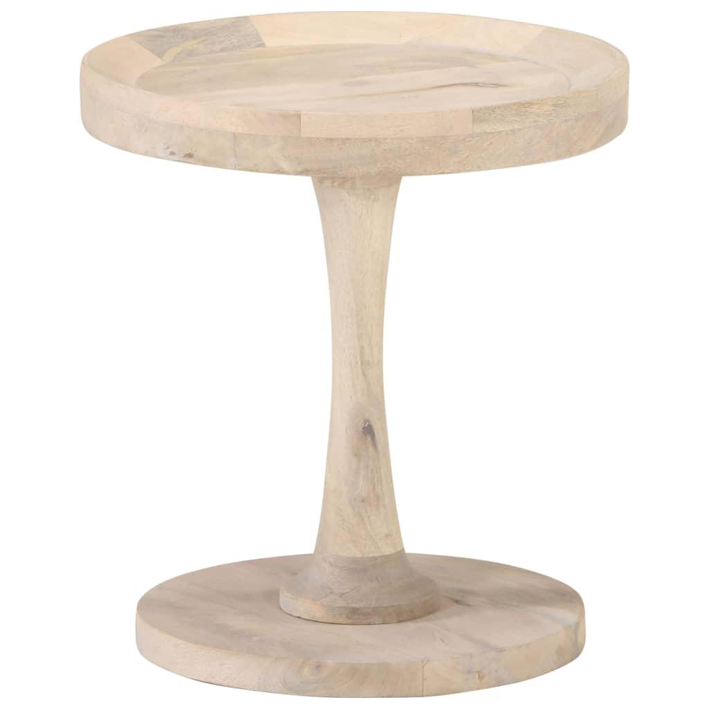 vidaXL Masă laterală, Ø40 x 45 cm, lemn masiv de mango imagine vidaxl.ro