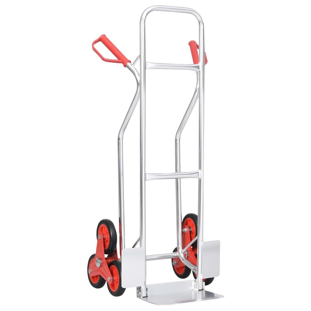 vidaXL Cărucior pentru scări manual, 6 roți, 51x53,5x118 cm, 150 kg vidaxl.ro
