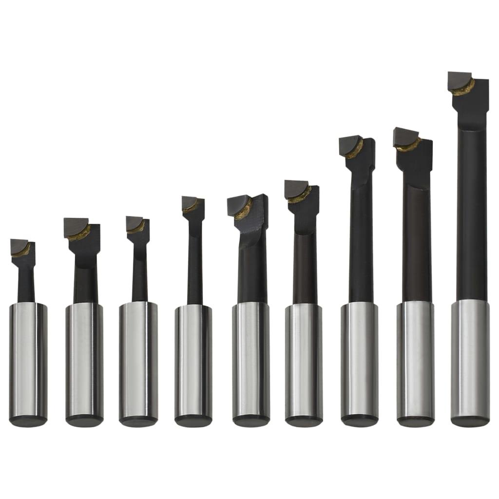 vidaXL Boorfrezen 9 st met houtbasis 12 mm