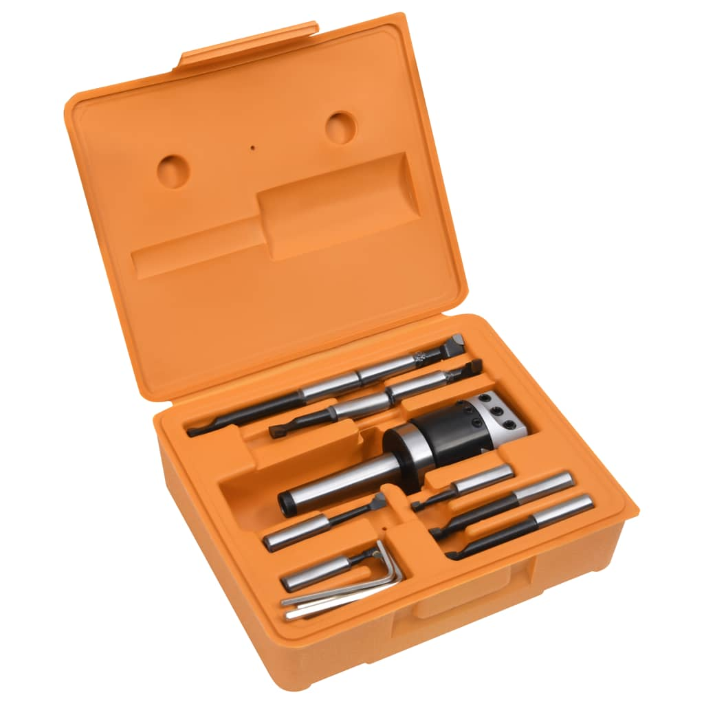 vidaXL Set unelte de alezat, 15 piese, cap de alezat 50 mm, MT3-F1-12 imagine vidaxl.ro