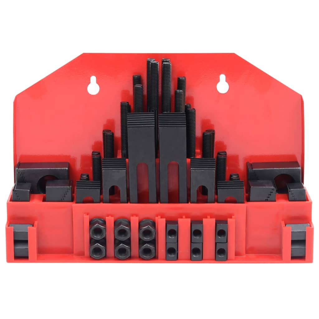 vidaXL 58-delige Klemset T-sleuf M10 staal