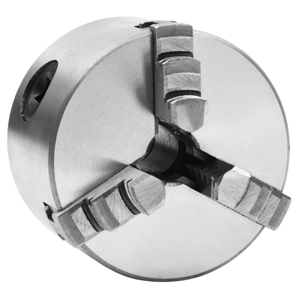 vidaXL Mandrină de strung cu 3 fălci, 80 mm, oțel vidaxl.ro