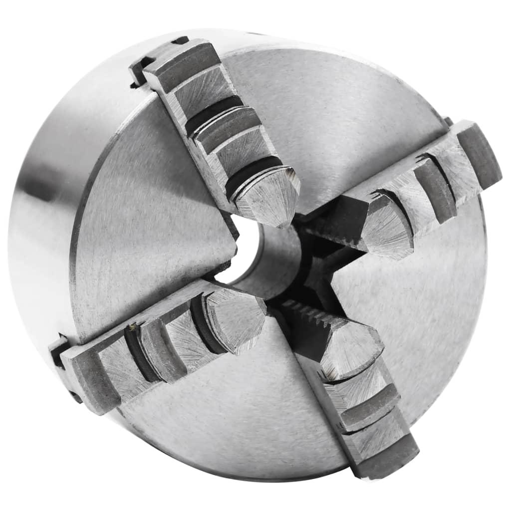 vidaXL Mandrină de strung cu 4 fălci, 100 mm, oțel imagine vidaxl.ro