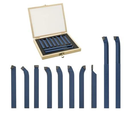 vidaXL 11-daļīgs griežņu komplekts, karbīds, 16x16 mm, P30