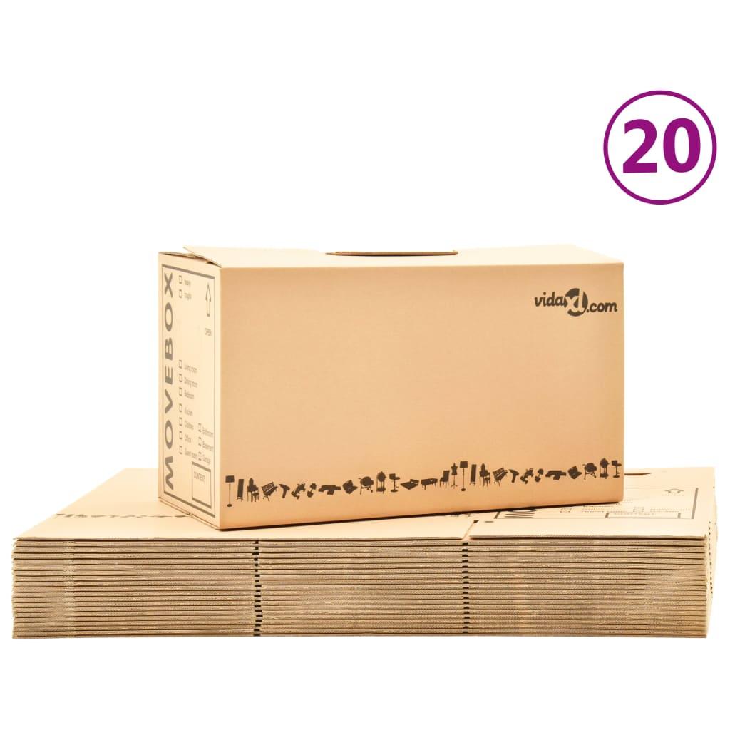 Kartónové krabice na stěhování XXL 20 ks 60 x 33 x 34 cm