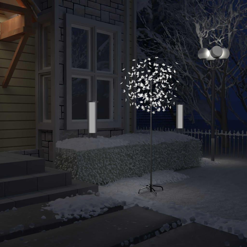 9951266 Weihnachtsbaum 200 LEDs Kaltweißes Licht Kirschblüten 180 cm