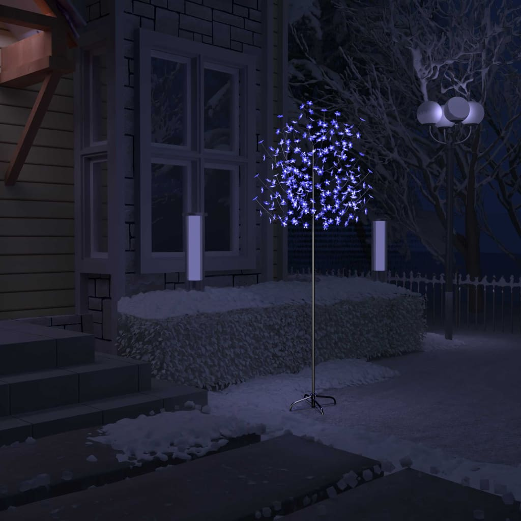 vidaXL_Albero_Natale_220_LED_Luce_Blu