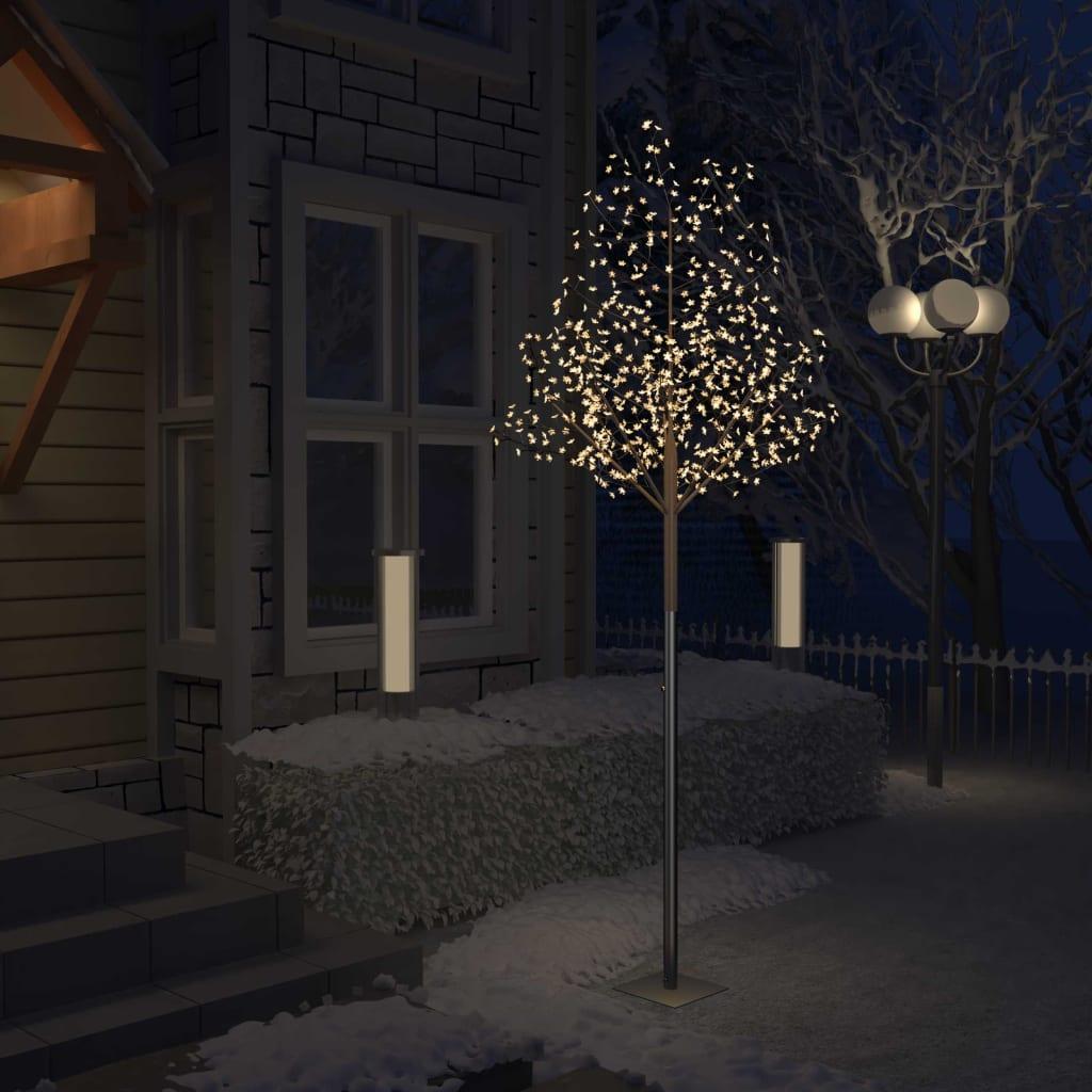 vidaXL Pom Crăciun, 600 LED-uri alb cald, flori de cireș, 300 cm imagine vidaxl.ro