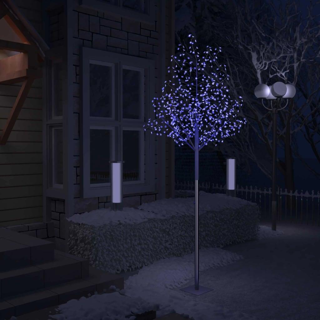 vidaXL Pom Crăciun, 600 LED-uri lumină albastră, flori de cireș 300 cm vidaxl.ro