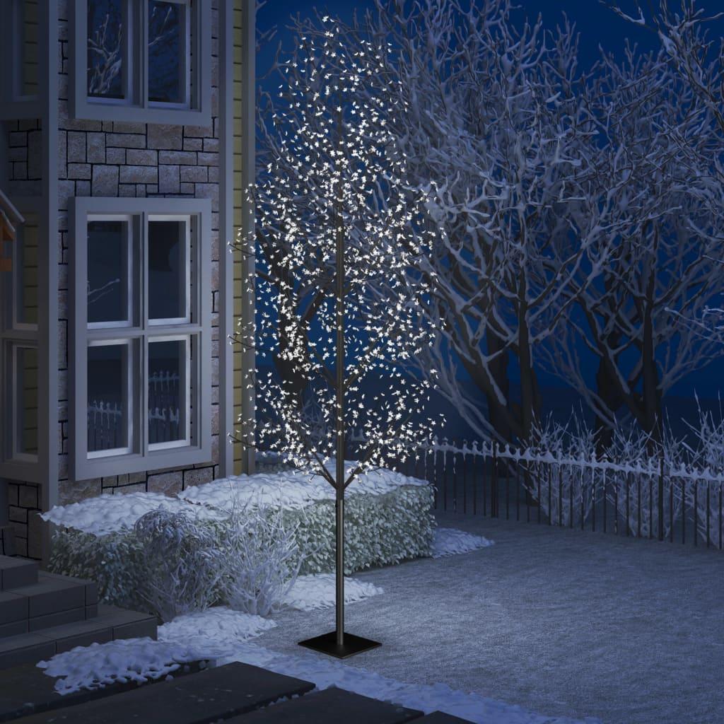 vidaXL Pom Crăciun, 1200 LED-uri alb rece, flori de cireș, 400 cm imagine vidaxl.ro
