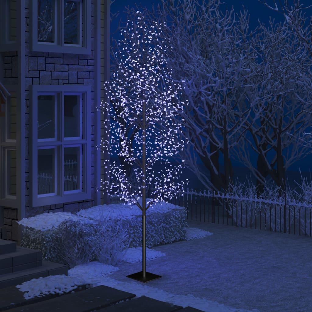 vidaXL_Albero_Natale_1200_LED_Blu_Ciliegio