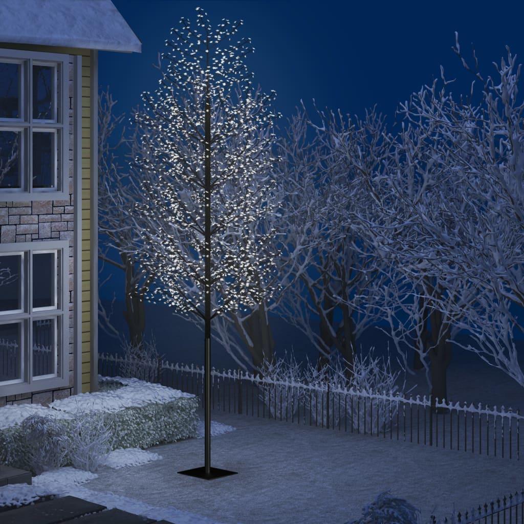 vidaXL Pom Crăciun, 2000 LED-uri alb rece, flori de cireș, 500 cm poza 2021 vidaXL