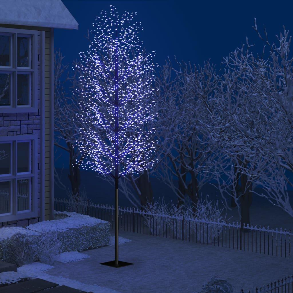 vidaXL Pom Crăciun, 2000 LED-uri lumină albastră flori de cireș 500 cm vidaxl.ro