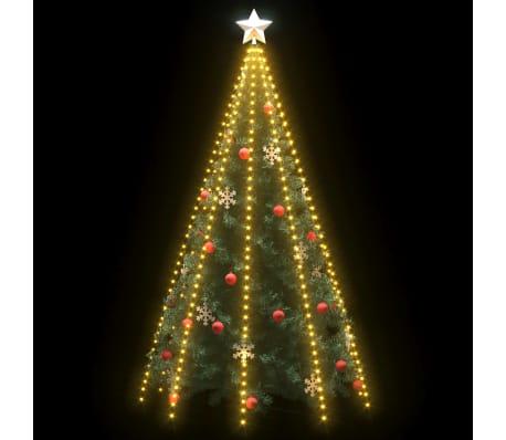 Albero Di Natale 400 Cm.Vidaxl Rete Di Luci Per Albero Di Natale Con 400 Led Ip44 400 Cm Vidaxl It