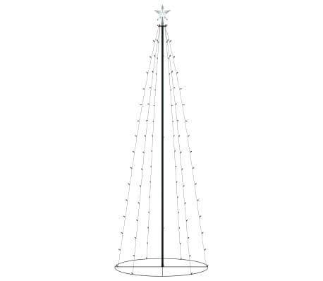 vidaXL Kegelkerstboom 100 LED's warm wit 70x180 cm