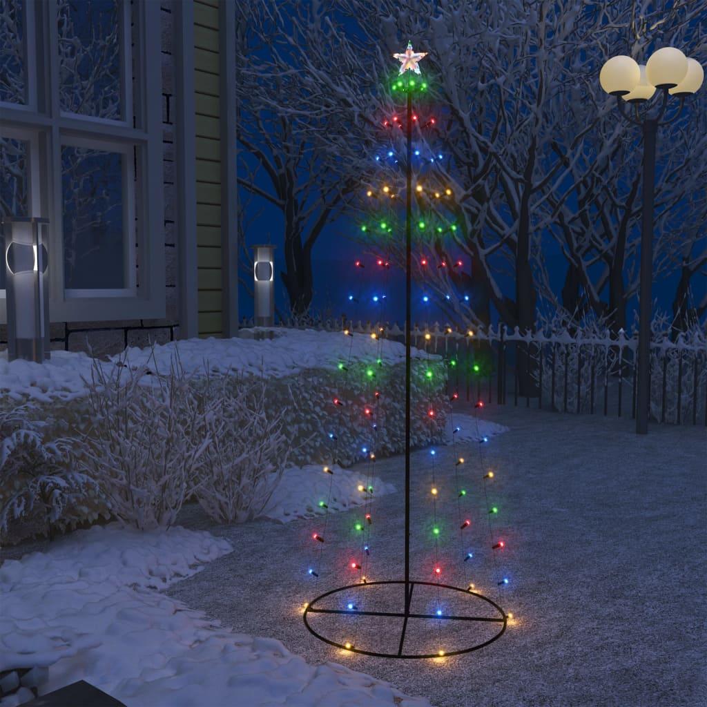 Stožasto božićno drvce sa 100 šarenih LED žarulja 70 x 180 cm