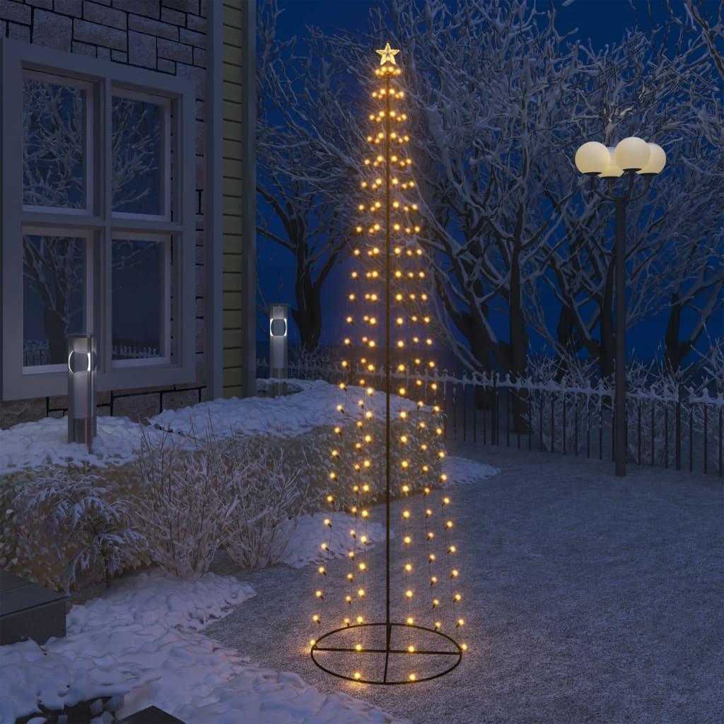 Stožasto božićno drvce sa 136 bijelih LED žarulja 70 x 240 cm
