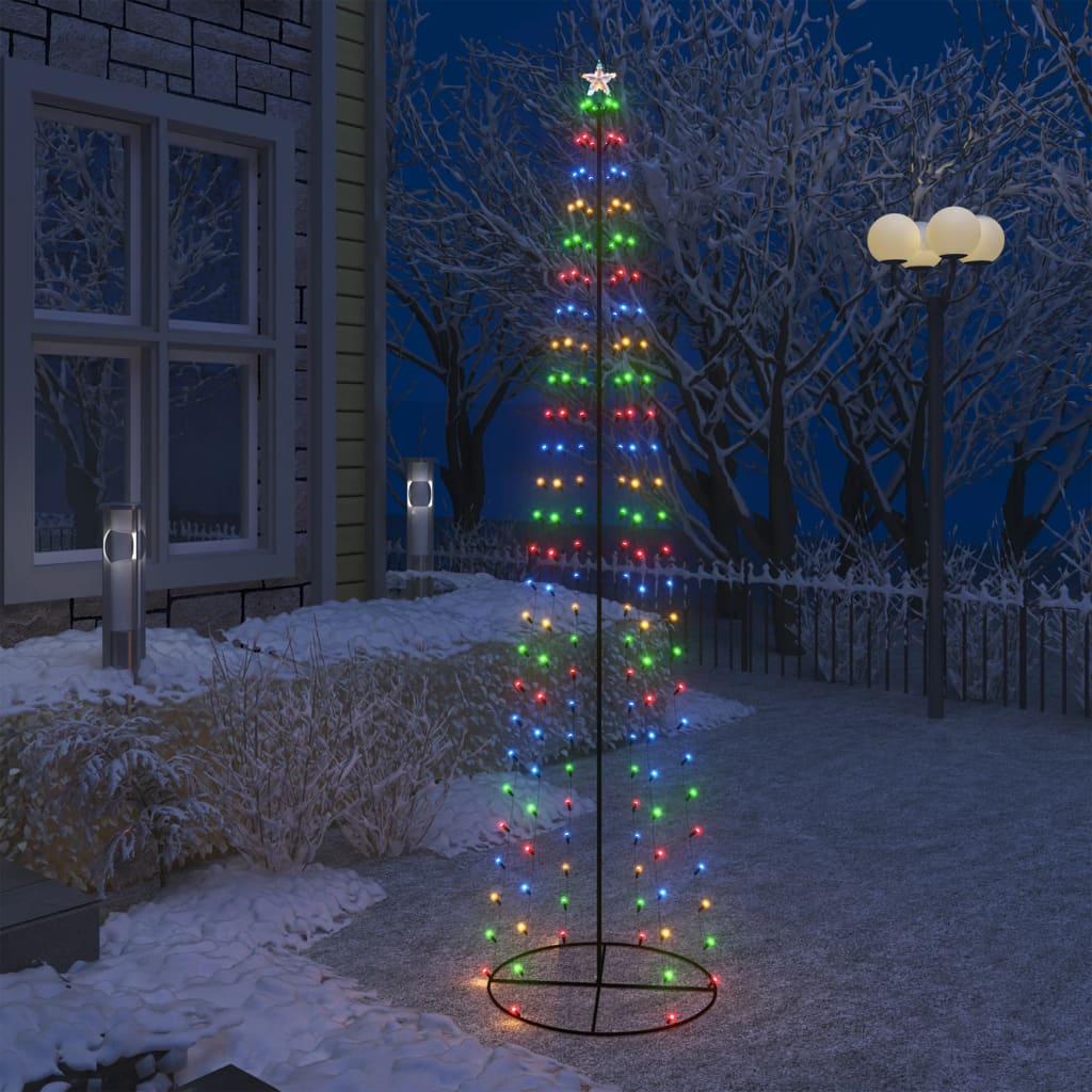 Stožasto božićno drvce sa 136 šarenih LED žarulja 70 x 240 cm