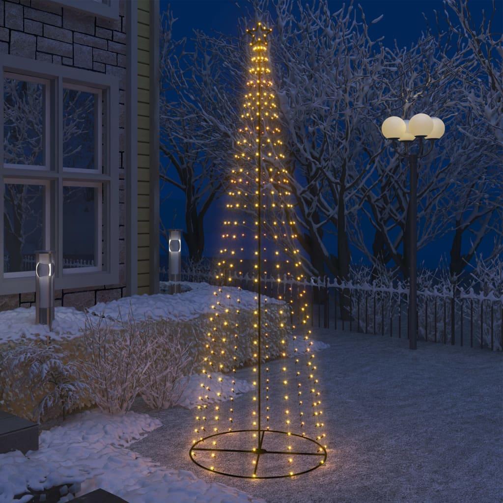 Stožasto božićno drvce s 330 bijelih LED žarulja 100 x 300 cm