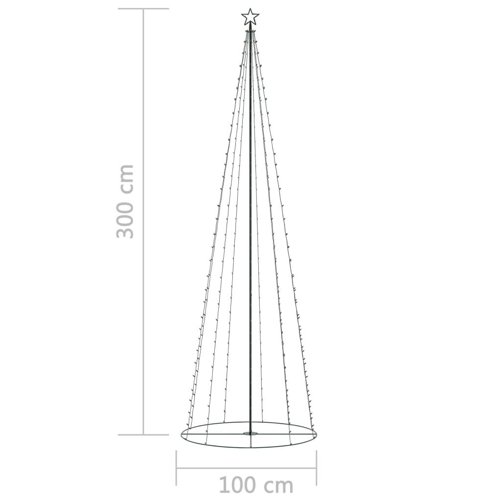 vidaXL Kegelkerstboom 330 LED's meerkleurig 100x300 cm