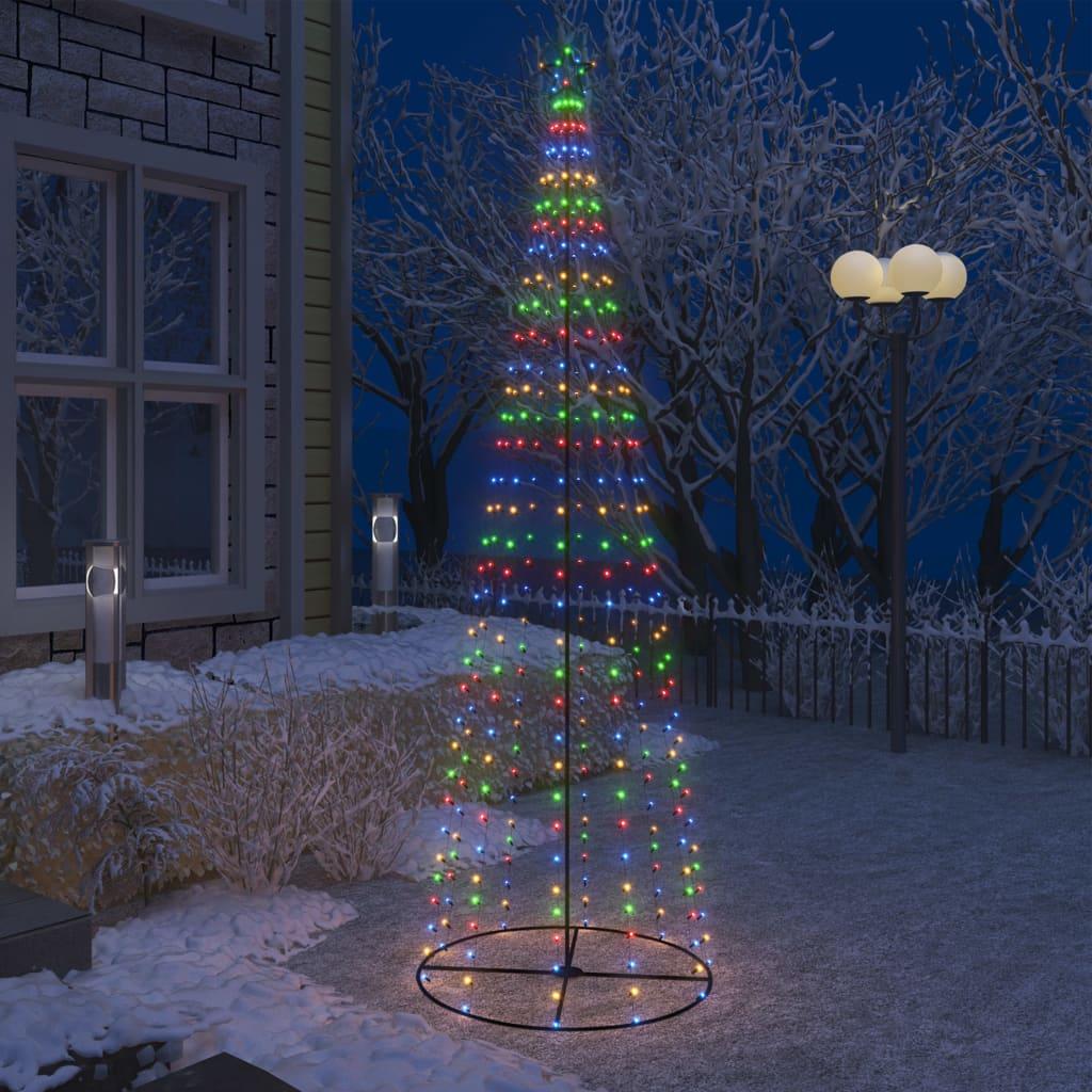vidaXL Decorațiune brad Crăciun conic 330 LED-uri colorate 100x300 cm vidaxl.ro