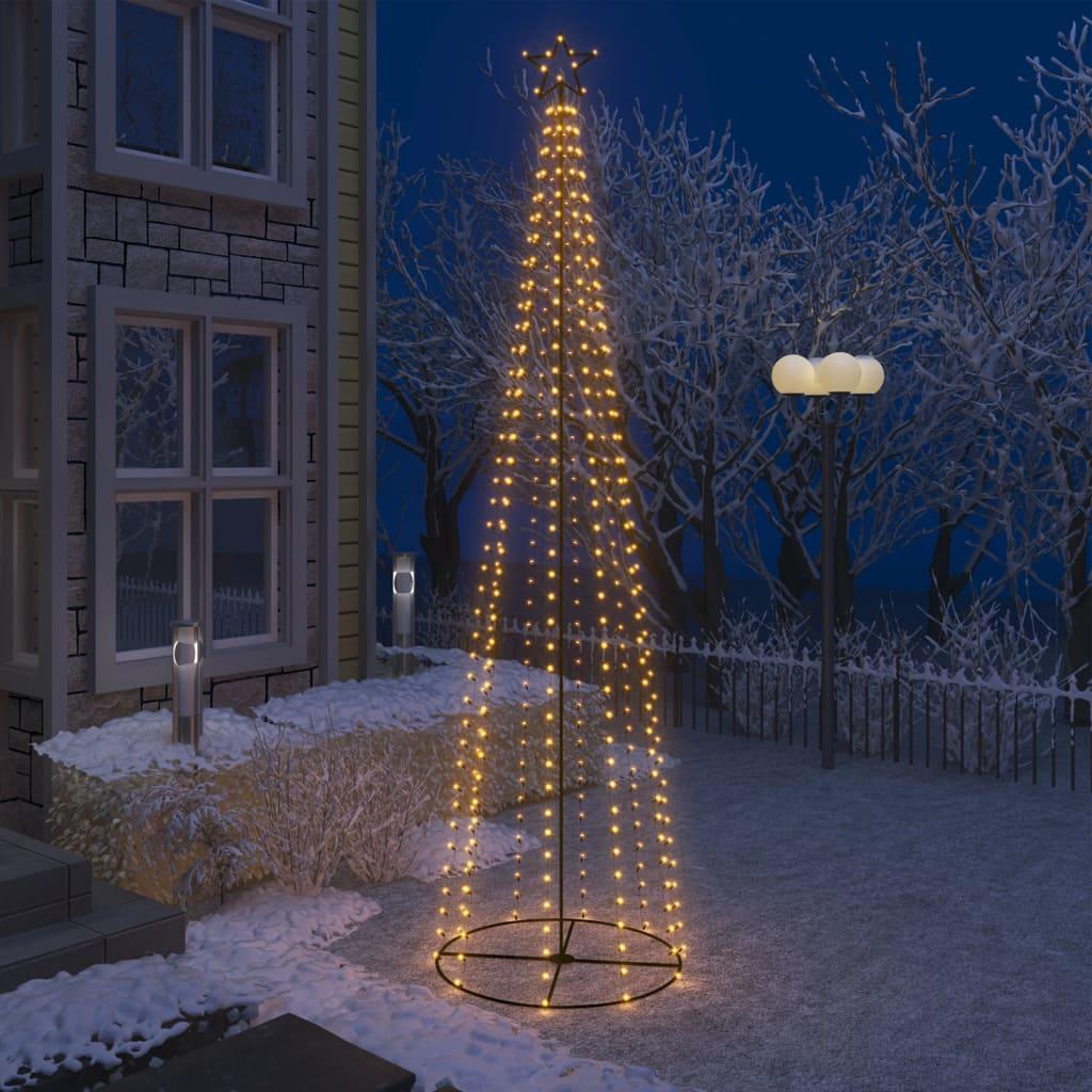 Stožasto božićno drvce s 400 bijelih LED žarulja 100 x 360 cm