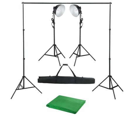 vidaXL Fotostudioset met studiolamp en achtergrond
