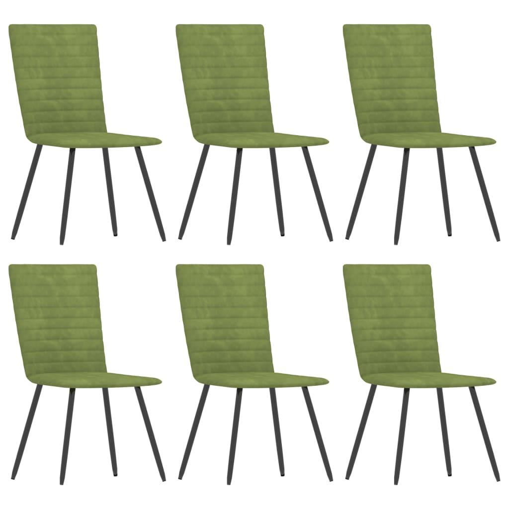 vidaXL spisebordsstole 6 stk. fløjl grøn