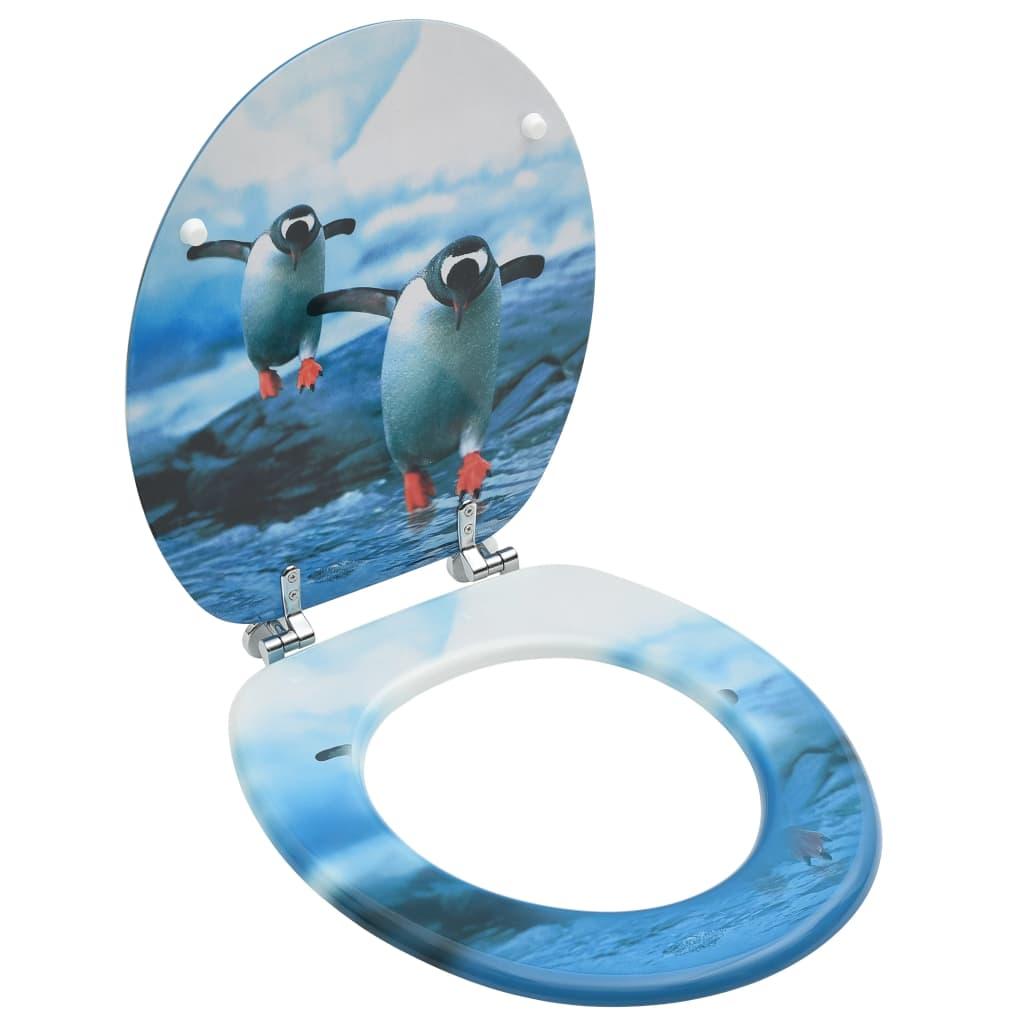 vidaXL Capac WC, MDF, model pinguini vidaxl.ro