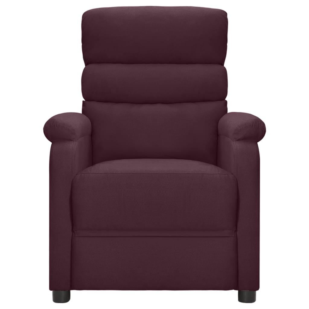 Leunstoel stof paars