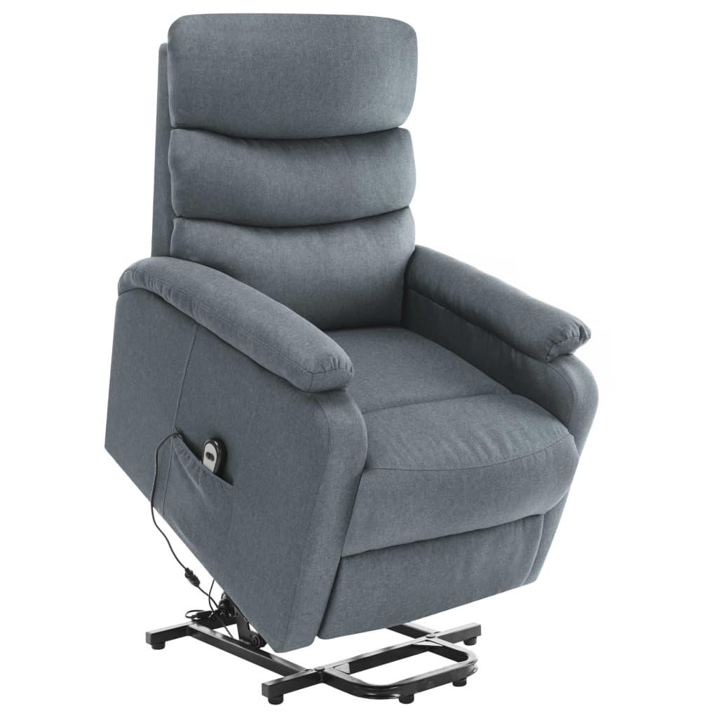 vidaXL Fotoliu de masaj rabatabil vertical, gri deschis, textil vidaxl.ro