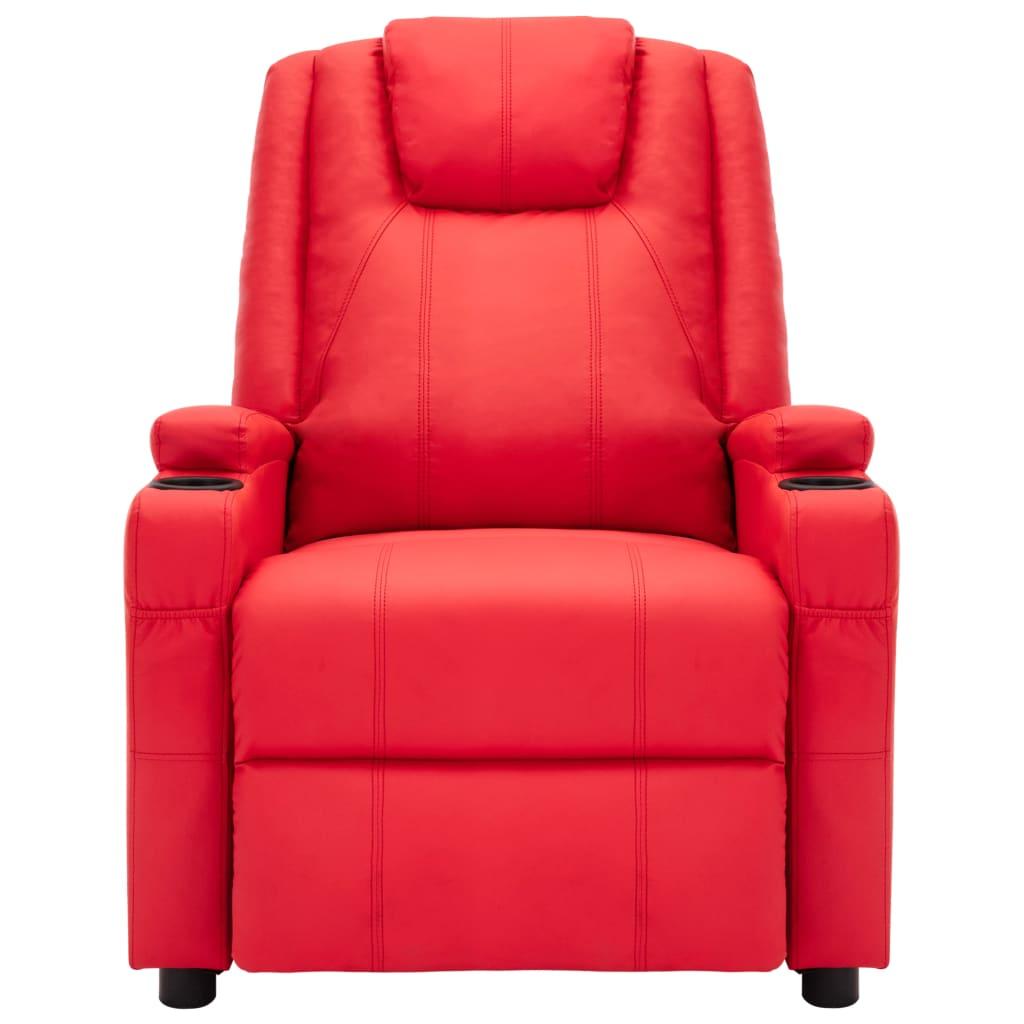 vidaXL Massagestoel verstelbaar kunstleer rood
