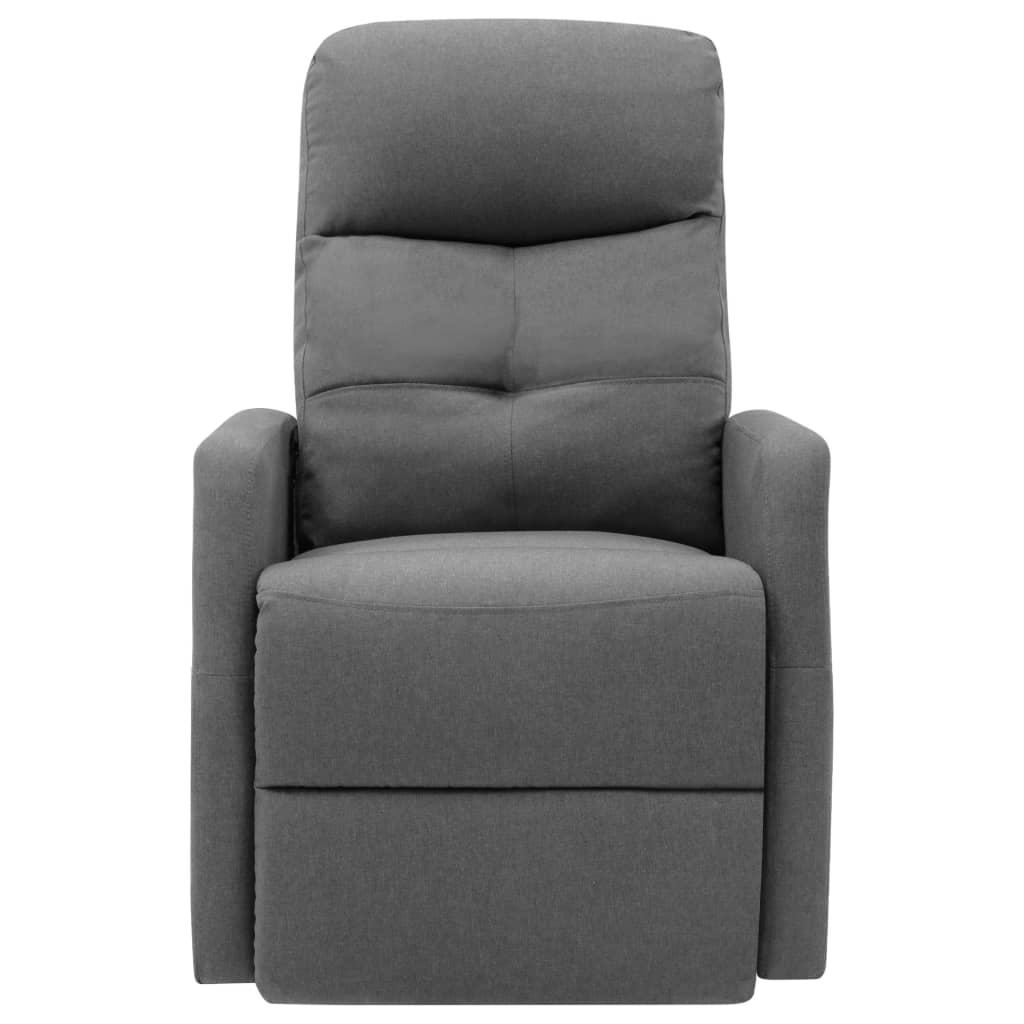 vidaXL Sta-op-stoel stof lichtgrijs