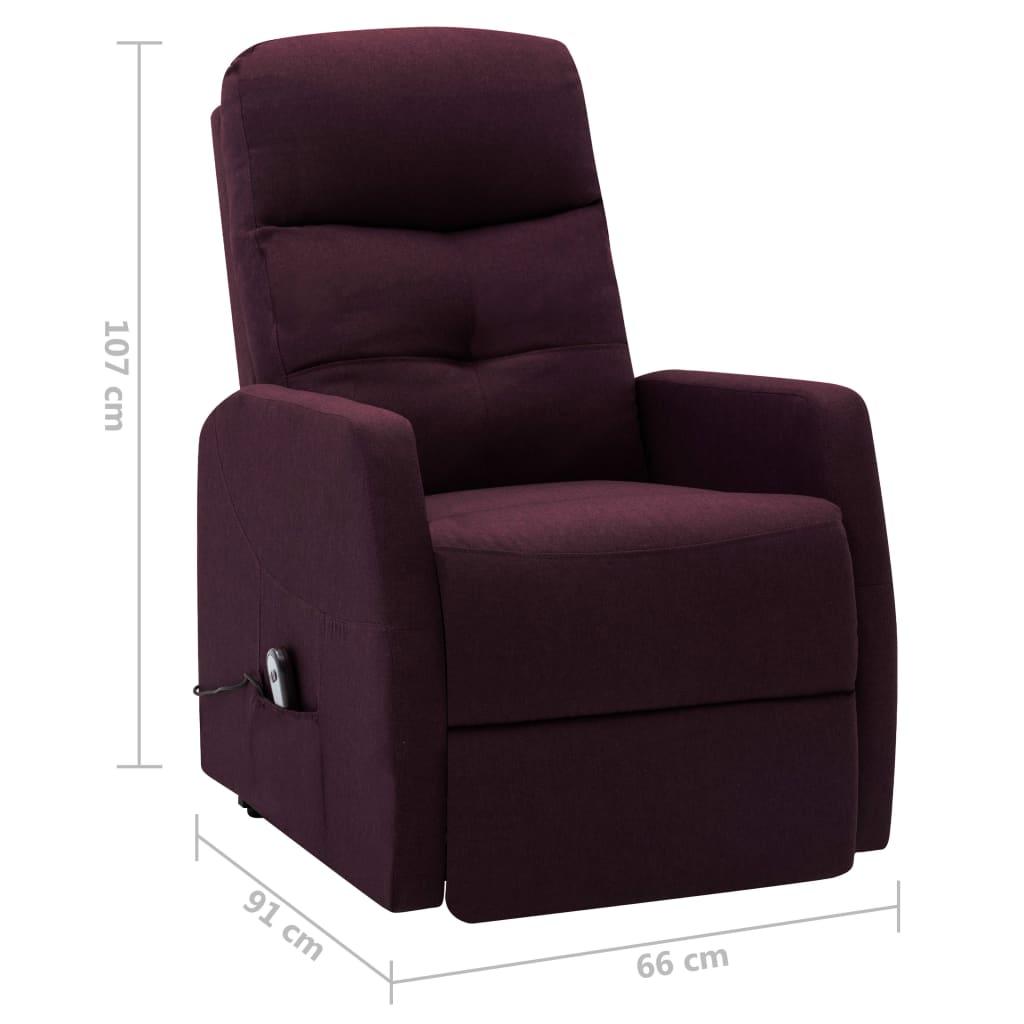 vidaXL Sta-op-stoel stof paars