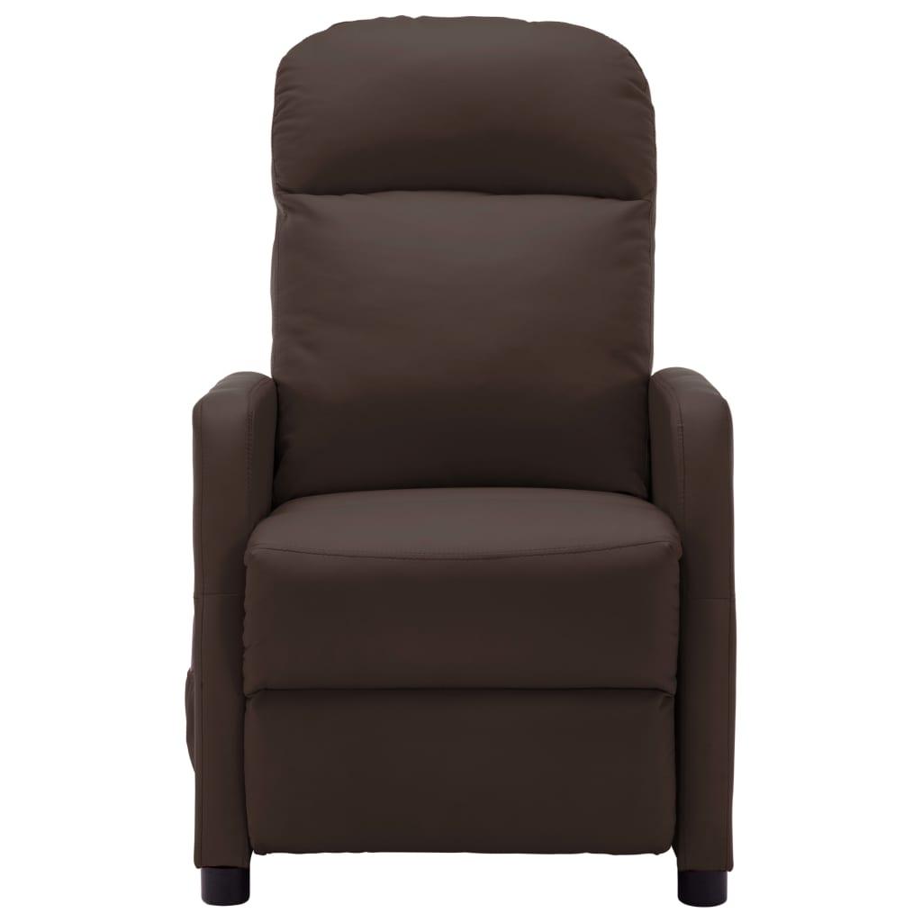 vidaXL Massagestoel verstelbaar kunstleer bruin